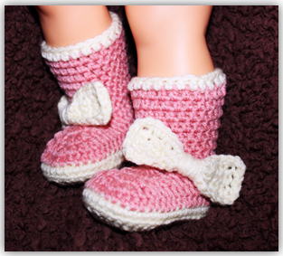 Baby Booties Pattern - Right Hand Video Tutorial