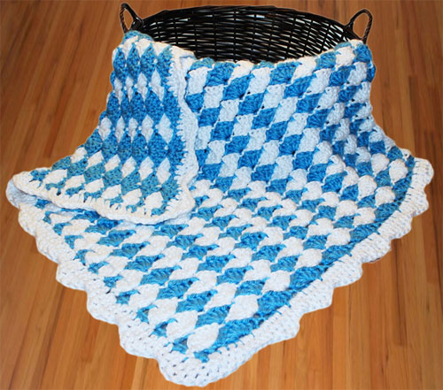 One Color Crochet Baby Blanket Pattern Dancox For