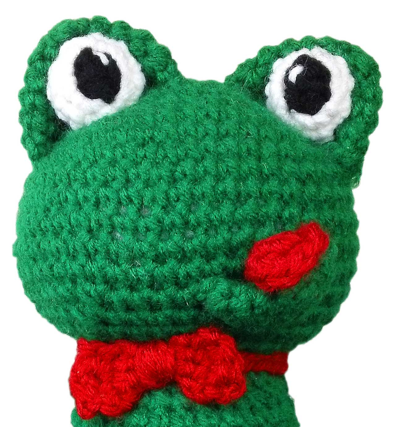 Crochet frog pattern fold circle in half and stitch open ends together bankloansurffo Gallery