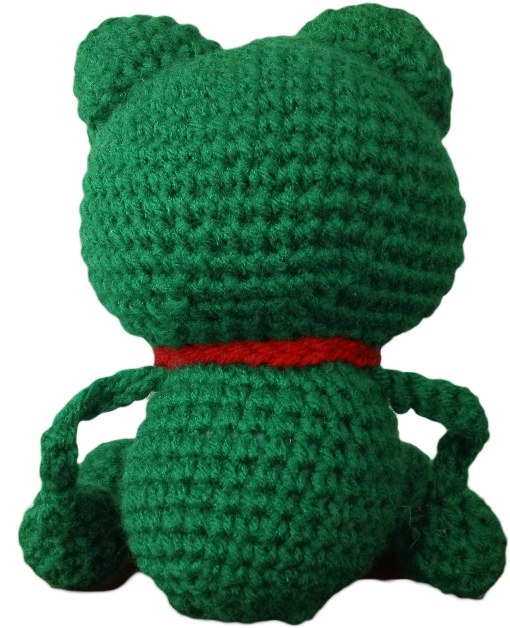 Crochet frog pattern attach arms by stitching them into both sides of the frogs body underneath the head bankloansurffo Gallery
